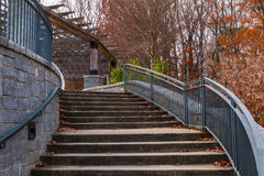Stairs to Grand Arbor in Piedmont Park, Atlanta, USA. Curved staircase to Grand Arbor in the Piedmont Park in autumn day, Atlanta, USA stock photos