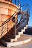 Stairs to heaven. Stairs to lighthouse near of the sea Stock Photography