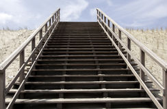 Stairs to heaven. Upgoing stairs to heaven and sky Royalty Free Stock Photos