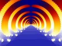 Stairs to heaven. Generated fractal graphic - Stairs to heaven Royalty Free Stock Photo