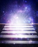 Stairs To Heaven. Abstract illustration of universe bodies Stock Photography