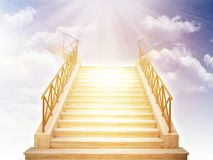 Stairs to heaven. stock photo