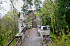 Stairs to Heaven. Historical stairs in the castle Stock Image