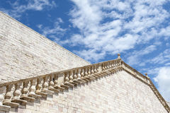 Stairs to heaven. Stone stairs to the blue sky Royalty Free Stock Images