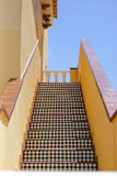 Stairs to the heaven. Traditional spanish style external stairs ti the heaven in house Royalty Free Stock Photos