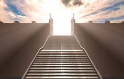 The Stairs To Heavens Gates stock illustration