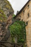 Stairs to higher parts of castle. Stairs to higher parts of Orava castle royalty free stock photography