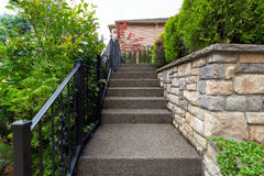Stairs to House Front Door Entrancre Stock Photos