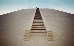 Stairs to infinity. Stairs on a building facade Stock Image