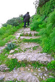 Stairs to the Kantara castle Stock Photos