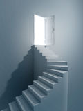 Stairs to light stock illustration