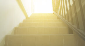 Stairs to light. fill up your heart with great confident and face the big wide world with pride. Royalty Free Stock Images