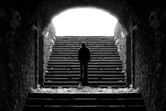 Stairs to light Stock Photography