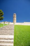 Stairs to Lleida cathedral Royalty Free Stock Photo