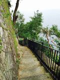 Stairs to Marina Grande Sorrento Royalty Free Stock Images