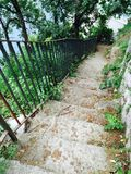 Stairs to Marina Grande Sorrento. Steep walk down stairs to Marina Grande Sorrento Stock Photography