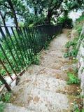Stairs to Marina Grande Sorrento Stock Photography