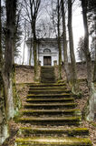 Stairs to mausoleum. Old dirty stairs to mausoleum Stock Photography