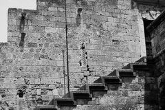 The stairs to the medieval castle Stock Image