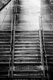 Stairs to metro station. Symetry of the stairs leading to brussel`s metro station Royalty Free Stock Image