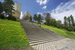 Stairs to Monument of Slovak National Uprising. At Banska Bystrica, Slovakia Royalty Free Stock Photography