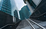 Stairs to Moscow International Business Center Stock Photography