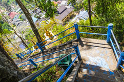 Stairs to mount in a Buddhist monastery Stock Image