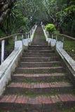 Stairs to Mount Phousi Royalty Free Stock Photos