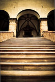 Stairs to the mysterious palace. Royalty Free Stock Images