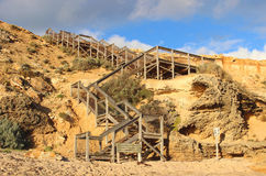 Stairs to the ocean beach. At Coppins Track, Sorrento, Victoria, Australia Stock Photos