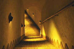Stairs to the old dungeon. Stock Photography
