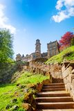 Stairs to old ruins of Lowenburg castle, Bergpark Royalty Free Stock Photography