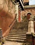 Stairs to an oriental house Royalty Free Stock Images