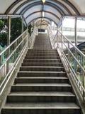 Stairs. A stairs to pedestrian bridge stock photo