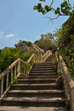 Stairs to the prachuap khiri khan Royalty Free Stock Images