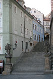 Stairs to the Prague Castle. PRAGUE, CZECH REPUBLIC Royalty Free Stock Image