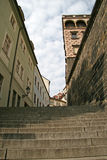 Stairs to the Prague Castle. PRAGUE, CZECH REPUBLIC Stock Photography
