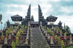 Free Stairs To Pura Agung Besakih Temple By Blue Sky On Bali, Indonesia Royalty Free Stock Photography - 159239137