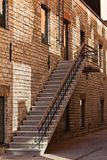 Stairs to a renovated old building Royalty Free Stock Image