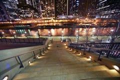 Stairs to Riverwalk Royalty Free Stock Image