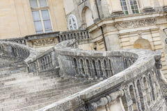 Stairs to Royal hunting castle  in Fontainebleau, France. Royalty Free Stock Photography