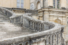 Stairs to Royal hunting castle  in Fontainebleau, France. Royalty Free Stock Image