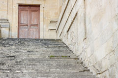 Stairs to Royal hunting castle  in Fontainebleau, France. Stock Photos