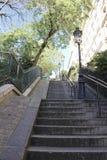 Stairs to Sacre-Coeu Royalty Free Stock Photos