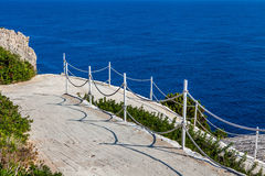Stairs to sea. Photo taken during day time royalty free stock photography