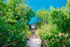 Stairs to sea Stock Photos