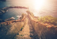 Stairs To The Sea Stock Images