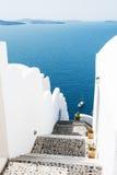 Stairs to the sea. Santorini island, Greece. Royalty Free Stock Photography