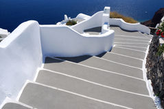 Stairs to sea, Santorini village of Oia, Greece Stock Image