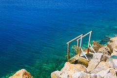 Stairs to sea Royalty Free Stock Photos
